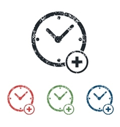 Add time grunge icon set vector