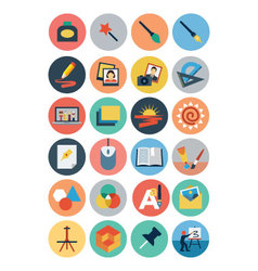 Flat design icons 4 vector