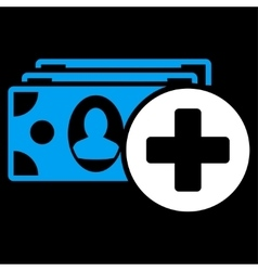 Medical expences icon vector