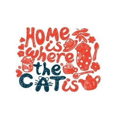 Home is where the cat vector