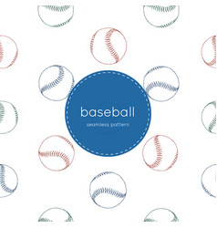 a collection of baseball elements seamless vector image vector image