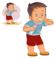 a little boy brushing his vector image vector image