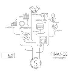 Banking and savings finance infographic vector image vector image