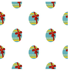Big easter egg pattern seamless vector