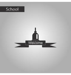 black and white style icon of school bell vector image