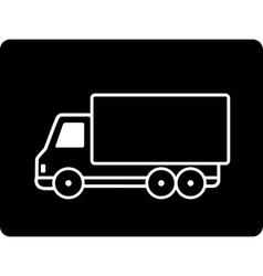 black truck vector image vector image