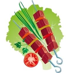 bright juicy kebab vector image vector image