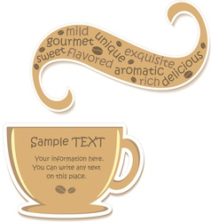 Coffee sticker vector