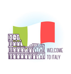 Coliseum rome landmark symbol of italy vector