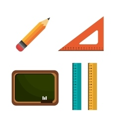 collection elements school graphic vector image vector image