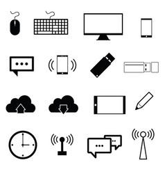 computer icon set in black color vector image
