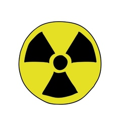 Doodle style radiation sign vector
