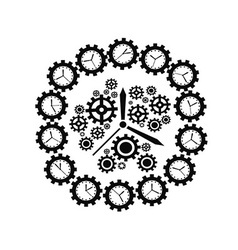 Gear clock vector