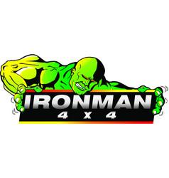 Iron man 4 x 4 vector