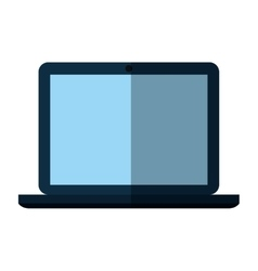 Laptop computer portable device isolated icon vector