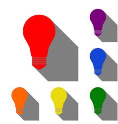light lamp sign set of red orange yellow green vector image