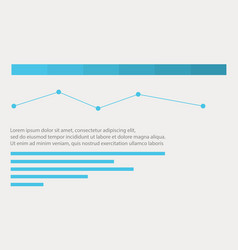 Line graph business infographic design vector
