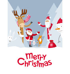 Merry christmas hide and seek vector