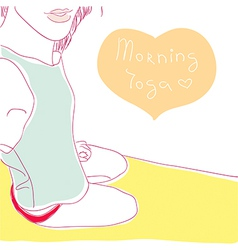 morning yoga vector image vector image