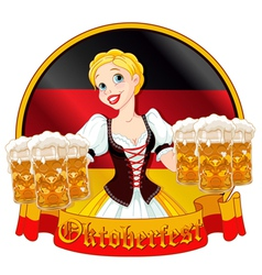 Oktoberfest girl design vector image