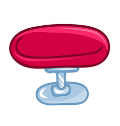 Round chair isolated vector