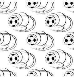 Seamless pattern of footballs or soccer balls vector