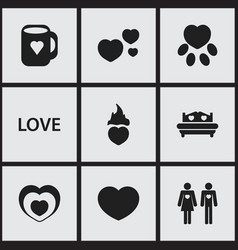 set of 9 editable amour icons includes symbols vector image vector image