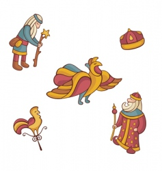 set of fairytale characters vector image vector image