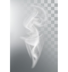 Smoke aroma steam vector image