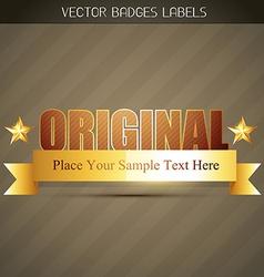stylish golden label vector image