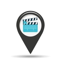 symbol cinema icon clapper movie design vector image