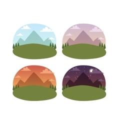 Travel landscapes vector image