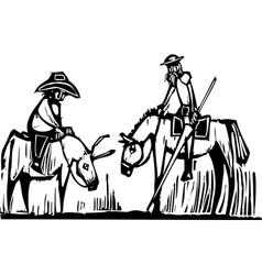 Don Quixote vector image