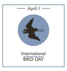 Bird Day vector image