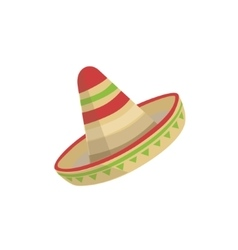 Sombrero mexican culture symbol vector