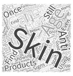 Anti aging skin care word cloud concept vector