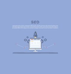 website seo optimization vector image