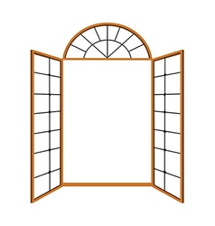 A view of window vector image