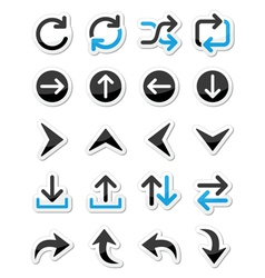 Arrow icon sets isolated on white vector