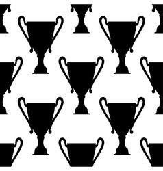 Seamless pattern of trophy cups vector