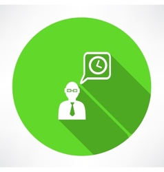 Businessman talk about time icon vector