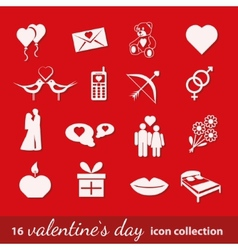 Valentine icons vector