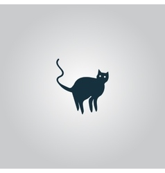 Evil cat silhouette vector