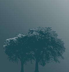 Trees in fog vector