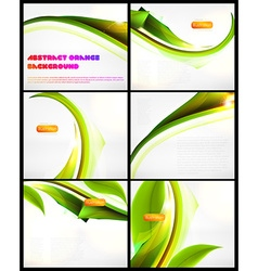 Green backdrop set vector