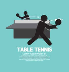 Table tennis players symbol vector