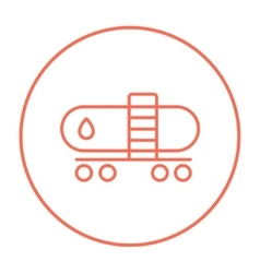 Oil tank line icon vector