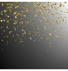 Golden confetti isolated on dark eps 10 vector