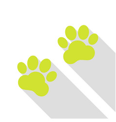 animal tracks sign pear icon with flat style vector image