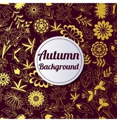 Autumn golden background vector